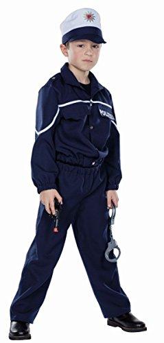 (Mottoland Kinder Kostüm Polizist Polizei Uniform Karneval Fasching Gr.128)