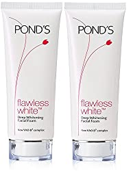 Ponds Flawless White Deep Whitening Facial Foam, 100g (Pack of 2)