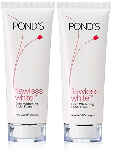 Pond's Flawless White Deep Whitening Facial Foam, 100g (Pack of 2)