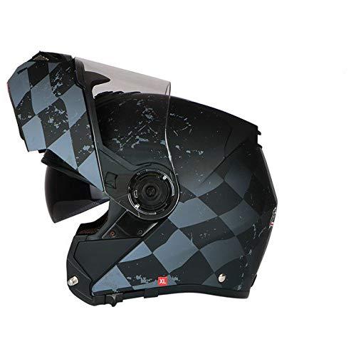 Nueva Motocicleta Motocicleta Motocicleta Off-Road Casco Casco Flip Helmet Protector, Cubierta Antipolvo,...