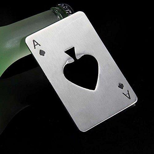 HeroNeo ®-Apribottiglie a forma di carta da gioco (asso di picche), regalo di Natale