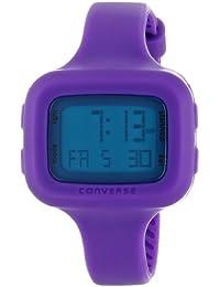 Converse Understatement - Reloj digital de mujer de cuarzo con correa de silicona lila (alarma, cronómetro) - sumergible a 30 metros