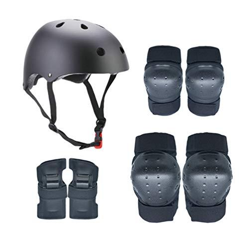 Dooxii Kinder Helm Set Schonerset Protektoren Set Schutzausrüstung mit Helm Ellenbogenschoner Knieschoner Handgelenkschoner für Scooter Skateboard Radfahren (Skateboard Handgelenkschoner Kinder)