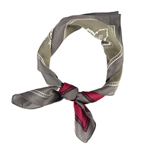 Bandana / Bandanas mit exclusivem Paisley Muster in Seide und Polyester (Paisley Schal Square)