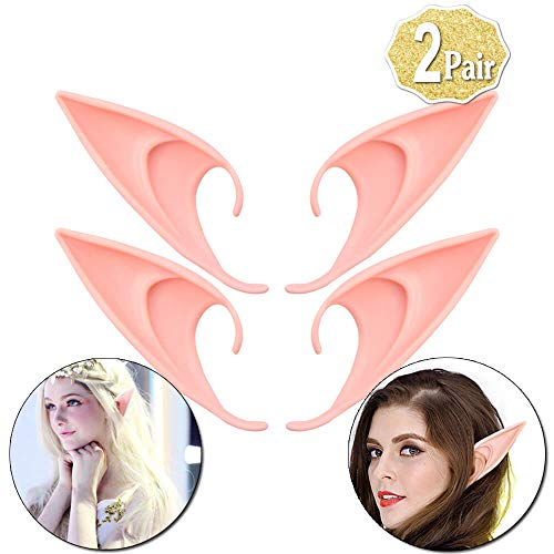 AniSqui Elf Ears Cosplay 12cm, (2 Paare Latex Fairy Goblin Ears), Elfen Ohren by