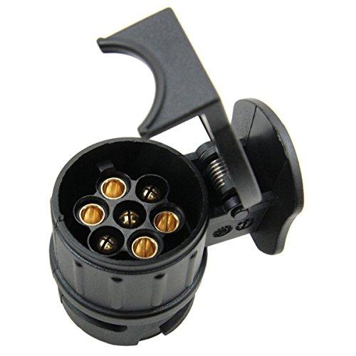 WINOMO 13/7-poliger Anhänger-Adapter, 12V, Stecker für Auto-Anhänger