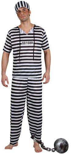 g Gefangener Halloween Männer Verkleidung Karneval Kostüm L (Halloween Gefangener Kostüm)