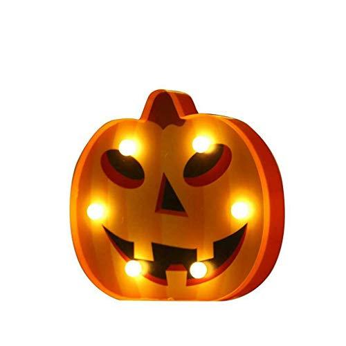 LED Halloween Dekoration Lichterkette Nachtlicht Zeichen Licht Dekor Schlafzimmer Wohnzimmer Garten Straße Dekoratives Licht Urlaub Beleuchtung (A)