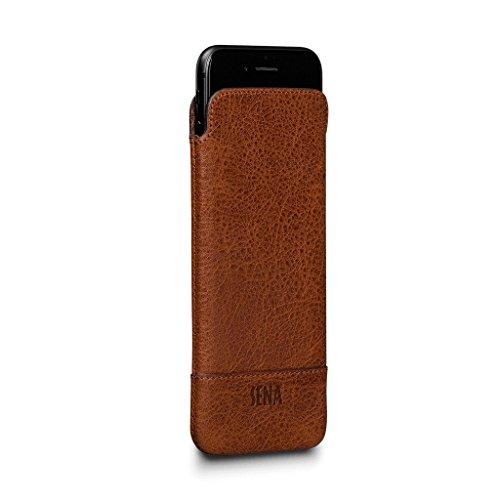 Heritage Ultraslim Leder Sleeve für iPhone 8/7//6S/6, Cognac