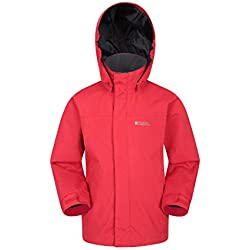 Mountain Warehouse Orbit Chaqueta Impermeable Rojo 9 - 10 Años