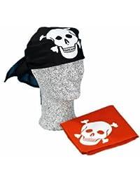 Kopftuch Pirat mit Totenkopf, schwarz