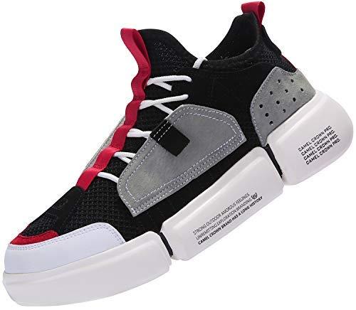 c0e584b1d81cf CAMEL CROWN Zapatillas de Running para Hombre Zapatos de Deporte Correr  Athletic Cordones Sneakers Casuales Moda