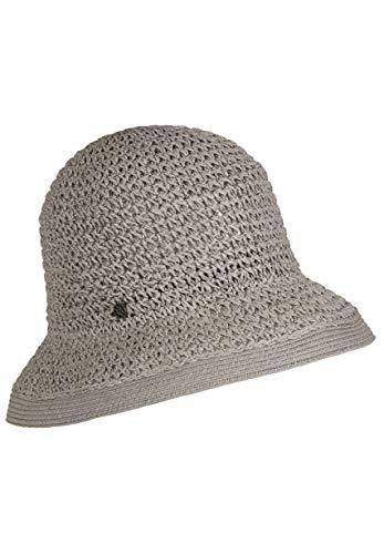 LOEVENICH Damen Häkelglocke, sommerlicher Hut, Farbe: Grey (Asiatische Hüte Stroh)