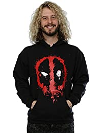 Marvel Herren Deadpool Splat Face Kapuzenpullover