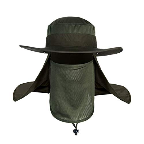 LouiseEvel215 Sombrero de protección solar para Hombre Con Cortina protectora UV para EL accesorio de equipamiento esencial para exteriores Solar Sombrero