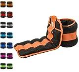 REEHUT Pesi da Caviglia/Polso (1 Paio) con Cinturino Regolabile per Fitness, Esercizio Fisico, Passeggiate, Jogging, Ginnastica, Aerobica, Palestra - Arancione - 2x1,36kg