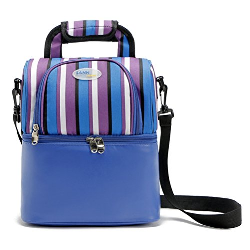 Zhhlaixing Colorato Fully Insulated Tote Thermal Lunch Bag/Cool Bag/Cooler/Lunch Box/Picnic Bag Blue
