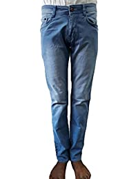 Style Rocks Men's Casual Cotton Regular Fit Jeans (SRJ-06_Blue)