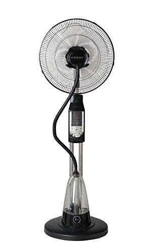 Foto de Jocel JVA030535 Ventilador Nebulizador, 70 W, Plástico, 3 Velocidades, Negro