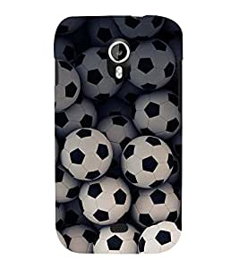 FOOTBALLS PATTERN 3D Hard Polycarbonate Designer Back Case Cover for Micromax Canvas HD A116::Micromax Canvas HD Plus A116Q