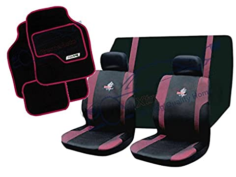 XtremeAuto® PINK, VR-WRX, Car Styling Set: Seat Covers, Floor Mats, Seat Belt Pads.