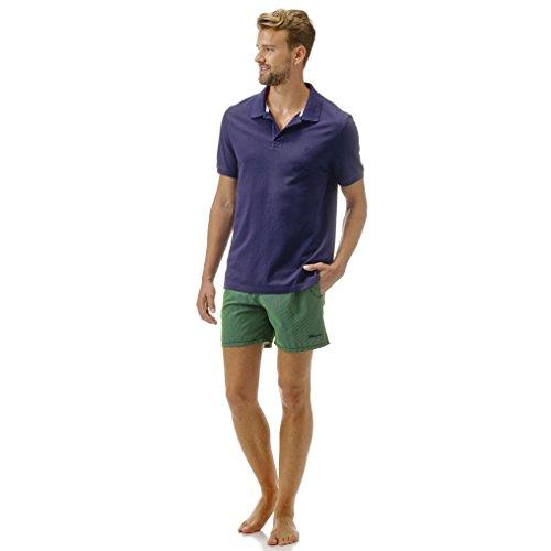 Vilebrequin - Einfarbiges, langärmliges Polohemd aus Baumwollpikee - Jungen Marineblau