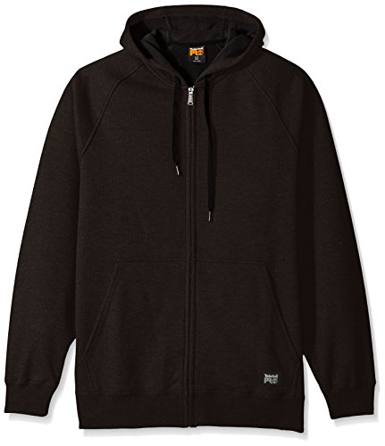 Timberland PRO Men's Downdraft Thermal-Bonded Full-Zip Sweatshirt, Jet Black, 2X-Large Timberland Pro Thermal