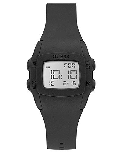 Nuovo guess orologio sportivo da donna di gomma nera