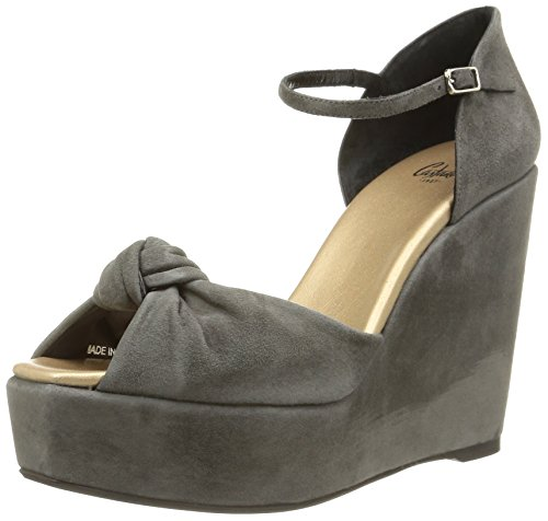 Castañer - Zaharia-kid Suede Metallic Fabric, Scarpa Donna Grigio (STONE / BROWN GOLD)
