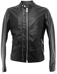 058cb0b155d BELSTAFF Vestes Hommes 71020725 Arnos Black Cuir Noir Zip Nouveau