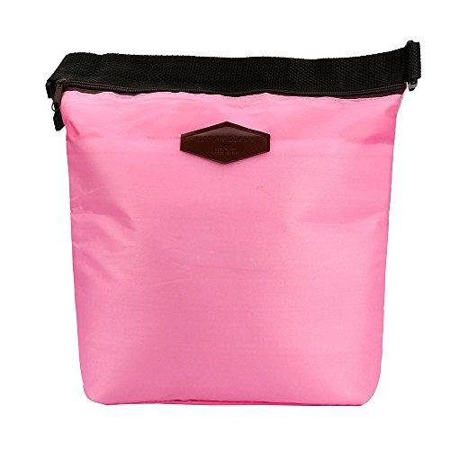 Rot Korb Geflochtenem Leder (TEBAISE Lunch-Taschen Hochklappen Isolierte Lunch-Kühltasche Rucksack Lunch Wasserdicht Kühltasche Mittagessen Tragbar für Reise)