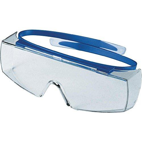 Uvex Super OTG Schutzbrille - Supravision Excellence - Transparent/Blau-Weiß