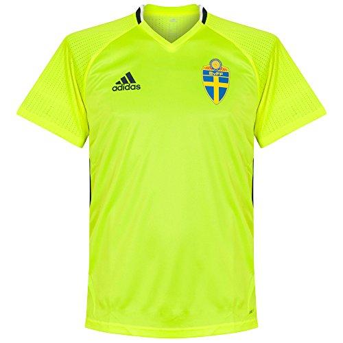 adidas Herren SVFF Schweden Trainingstrikot, Syello/Conavy, L, AC3906