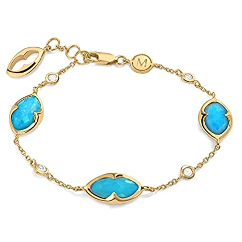 Missoma 18ct Gold Plated Bisous Turquoise Doublet