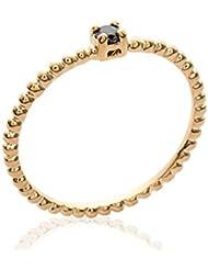ISADY - Tracie Noir Gold - Bague femme - Plaqué Or 750/000 (18 carats) - Oxyde de Zirconium