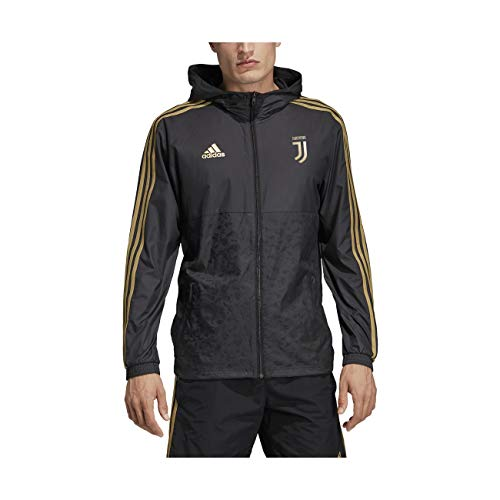 adidas Herren JUVE WINDBREAKR Jacket, Black, L Mc Jacke