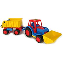 Wader Basics Tractor with Shovel and Trailer