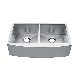 CRACCO Spa Double Bowls Basin Stainless Steel Undermount Handmade Kitchen Sink