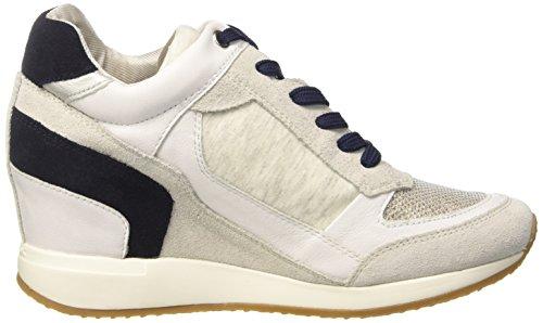Geox D Nydame A, Sneakers Hautes Femme Blanc Cassé (OFF WHITEC1002)