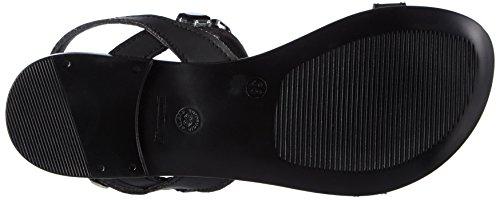 Tamaris - 28159, Scarpe col tacco con cinturino a T Donna Nero (Nero (Black 001))