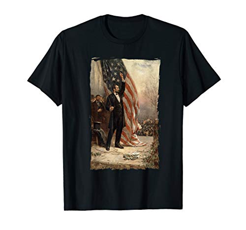 4th of July Independence Day American Flag Abraham Lincoln T-Shirt