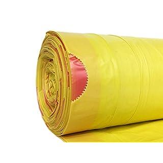 hocz 100 x 120 Liter Müllsack | reißfest ✔ | mit Zugband ✔ | 25er Rolle | 100 Stück | 4 Rollen ✔ | Typ 949 | Gelb Abfall-Säcke XXL Abfallbeutel | 40 μ | LDPE | Müllbeutel Müllsäcke