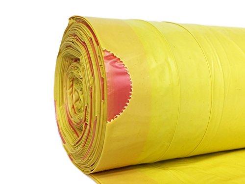 *hocz 100 x 120 Liter Müllsack | reißfest ✔ | mit Zugband ✔ | 25er Rolle | 100 Stück | 4 Rollen ✔ | Typ 949 | Gelb Abfall-Säcke XXL Abfallbeutel | 40 μ | LDPE | Müllbeutel Müllsäcke*