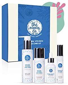 Natural Vitamin C Face Care with Free Bag, Face Wash, Cream, Serum and Under Eye Cream