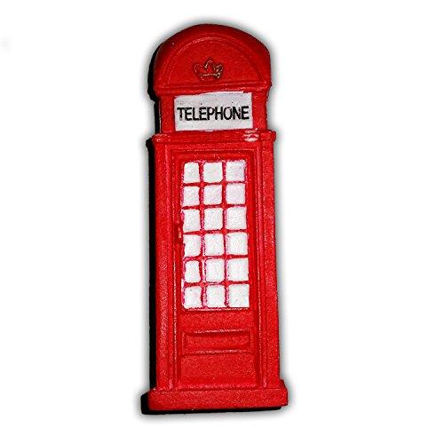 Calamita frigorifero cabina telefonica londinese - rossa / design 3d / ricordo britannico di londra inghilterra regno unito