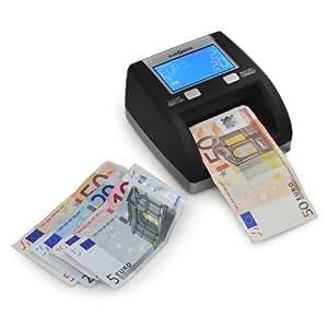 Klarstein BS230 Trieuse de billets - Compteuse EURO (détection fausses coupures, certifié conforme par la banque centrale européenne)