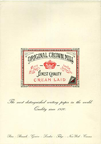 Original Crown Mill 13140 - Papel verjurado, crema