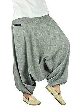 Sehr gemütliche und tief geschnittene Yoga Haremshose als alternative Kleidung und Aladinhose von virblatt S -...