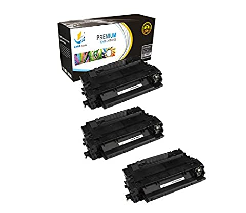 Catch Supplies CE255A P3015 3 Pack Black Premium Replacement Toner Cartridge 55A Compatible with HP LaserJet Enterprise P3015d P3015dn P3015x P3011 P3016, MFP M525 M521dn Printers  6,000