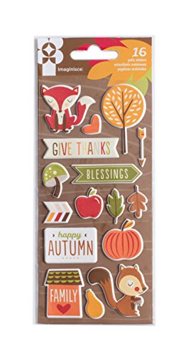 American Crafts 16 Piece Give Thanks Puffy Stickers by American Crafts